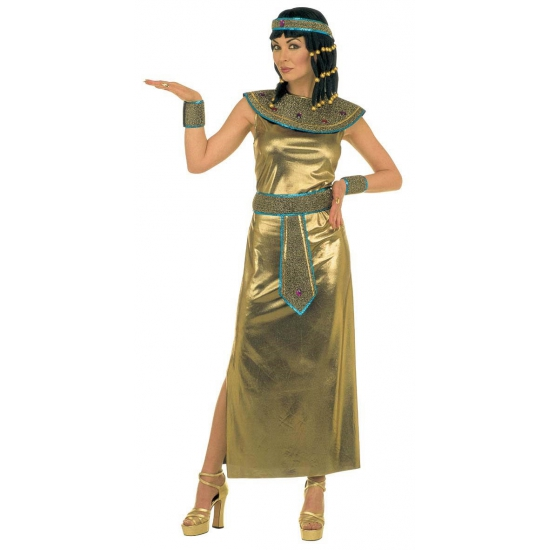 Gouden Egyptische jurk S Multi