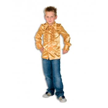 Gouden hippie blouse jongens 128 Goudkleurig