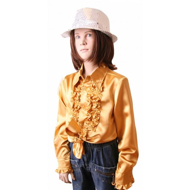 Gouden hippie blouse meisjes Goudkleurig