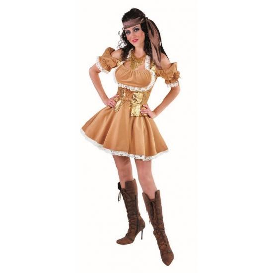 Gouden jurk voor dames 40 (L) Multi
