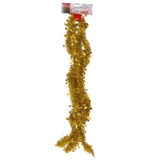 Gouden kerstboom slinger 270 cm Goudkleurig