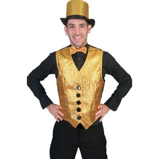 Gouden vestje voor heren XL Goudkleurig