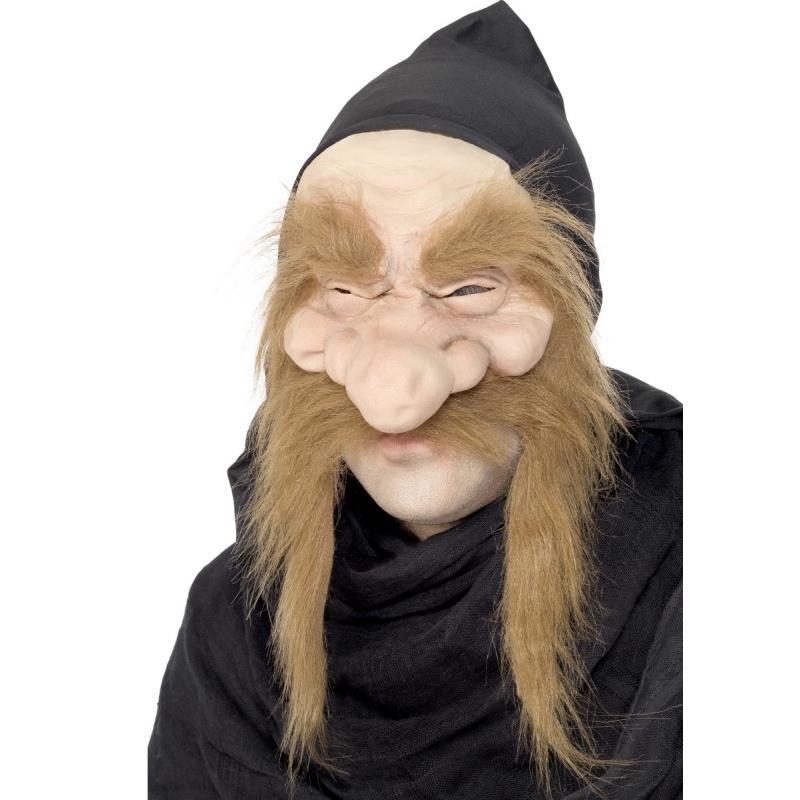 Goudzoeker masker met grote snor -