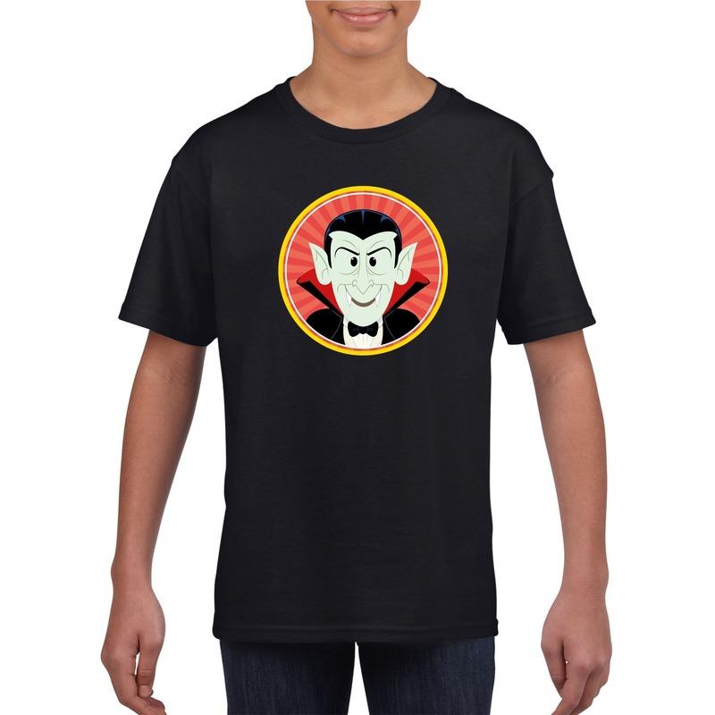 Graaf Dracula halloween t-shirt zwart voor jongens en meisjes XL (158-164) Zwart