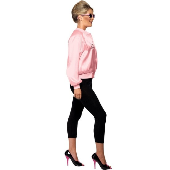 Grease Pink Ladies verkleed kostuum roze college jacket voor dames 36-38 (S) Roze