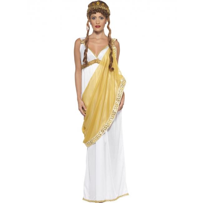 Griekse/Romeinse dame verkleedoutfit/jurk voor dames 36-38 (S) Wit