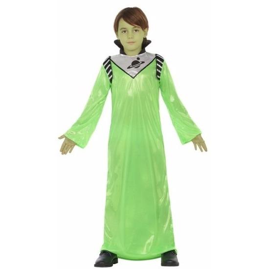 Groene alien koning Zharor verkleedkleding voor jongens 128 (7-9 jaar) Groen