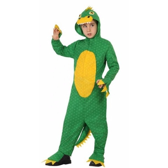 Groene dinosaurus Rex verkleedkleding voor jongens 140 (10-12 jaar) Groen