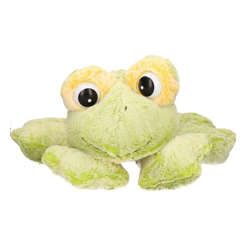 Groene mega kikker pluche knuffel 97 cm Groen