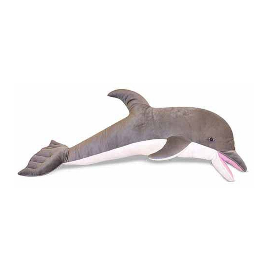 Grote dolfijn knuffel 104 cm Multi