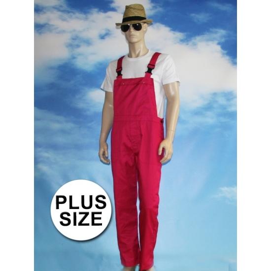 Grote maat fuchsia tuinbroek voor dames en heren 4XL (48/60) Roze