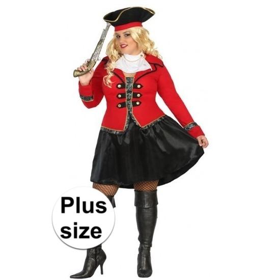 Kostuums Dames.Grote Maat Piraten Kostuum Kapitein Grace Voor Dames Fun