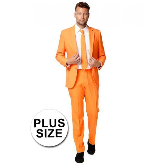 Grote maat oranje pak 54 (2XL) Oranje
