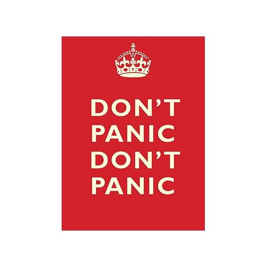 Grote muurplaat Don't Panic 30x40cm Multi