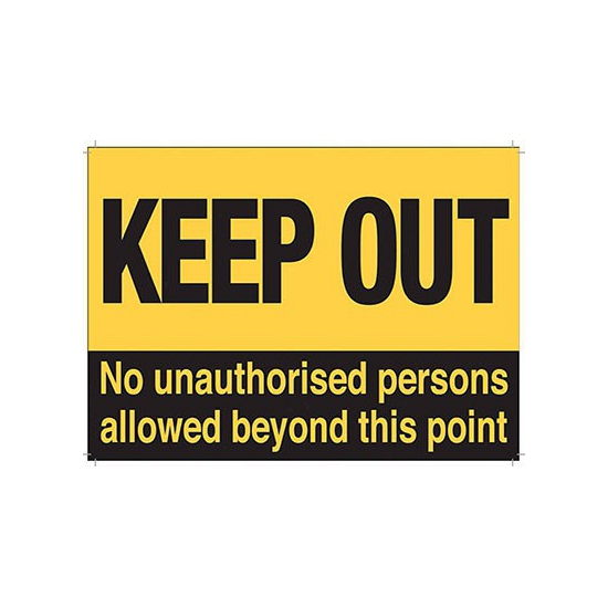Grote muurplaat Keep Out 30x40cm Multi