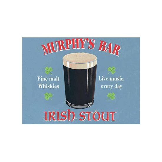 Grote muurplaat Murphys bar 30x40cm -