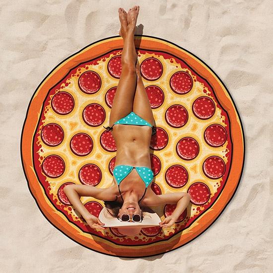 Grote pizza strandhanddoek 150 cm Strandlakens
