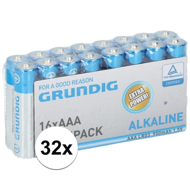 Grundig AAA batterijen 32 stuks