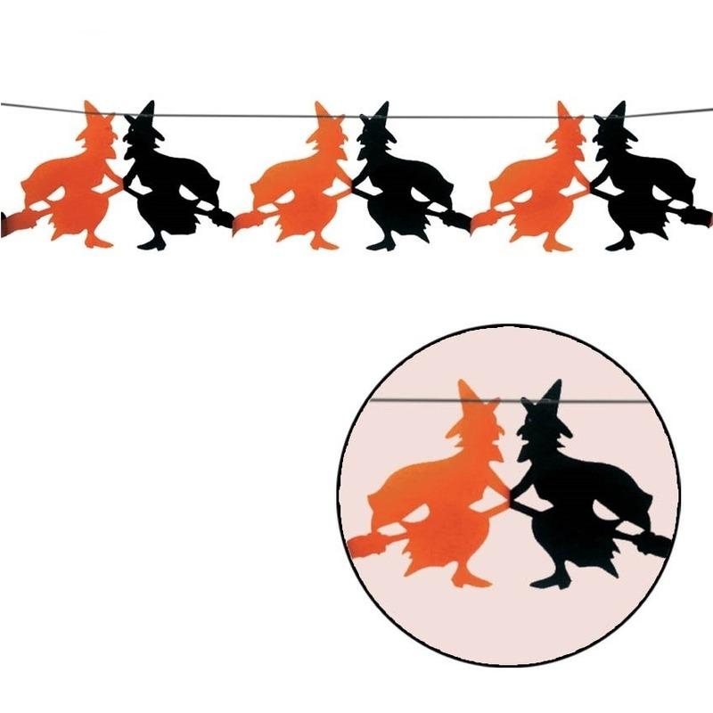 Halloween heksen slinger 3 meter - Feestslingers