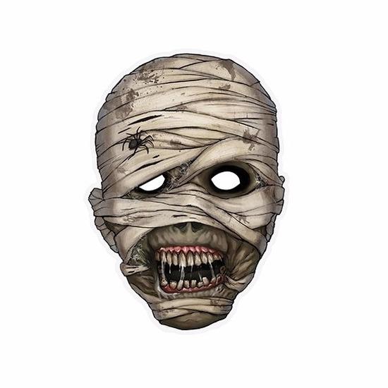 Halloween mummie masker 21 x 29 cm -
