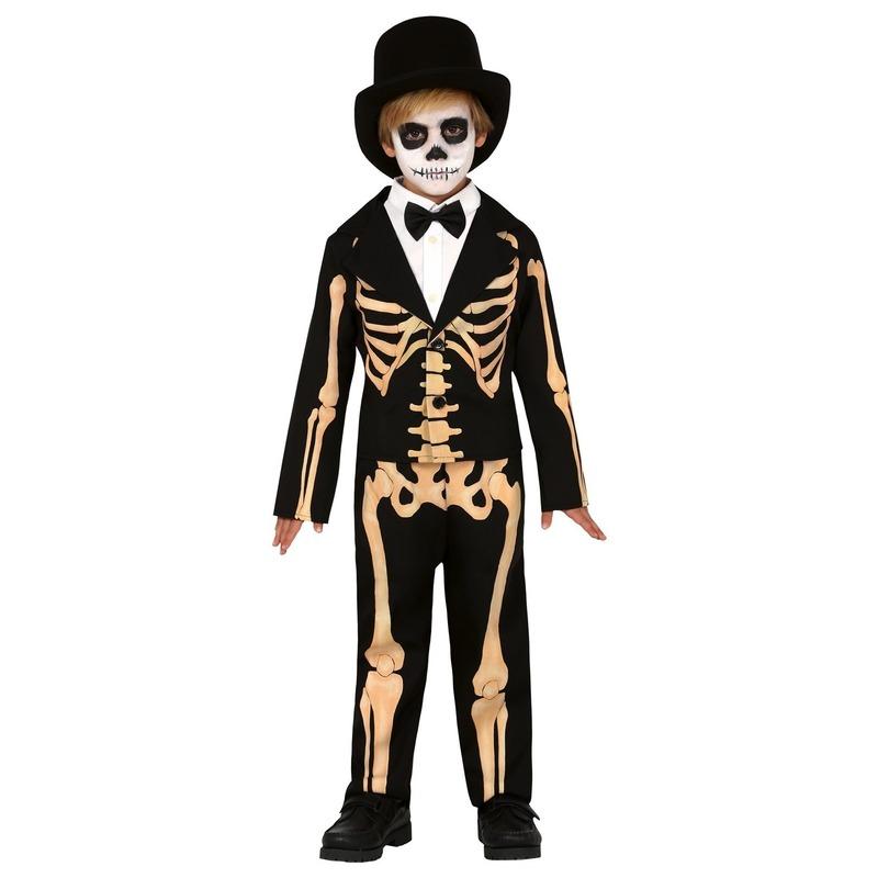 Halloween skelet broek met colbert voor kinderen 5-6 jaar (110-116) Multi