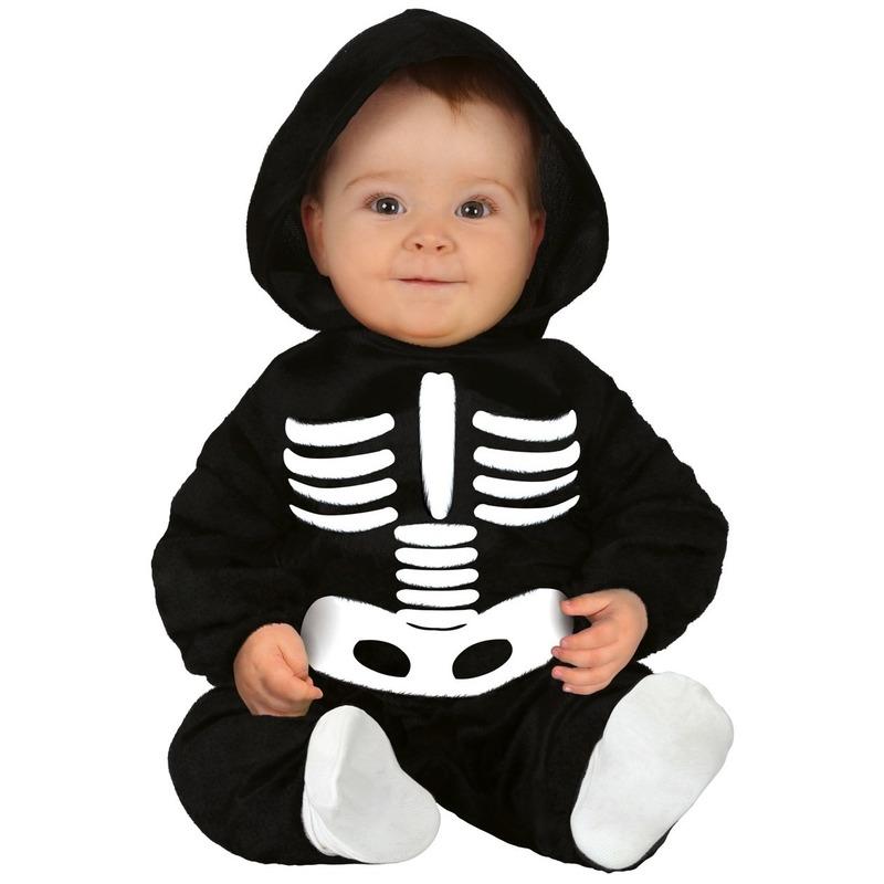 Halloween skelet kostuum voor baby/peuter 6-12 maanden Multi