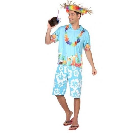 Hawaiiaans/tropisch kostuum/set voor heren XL Multi