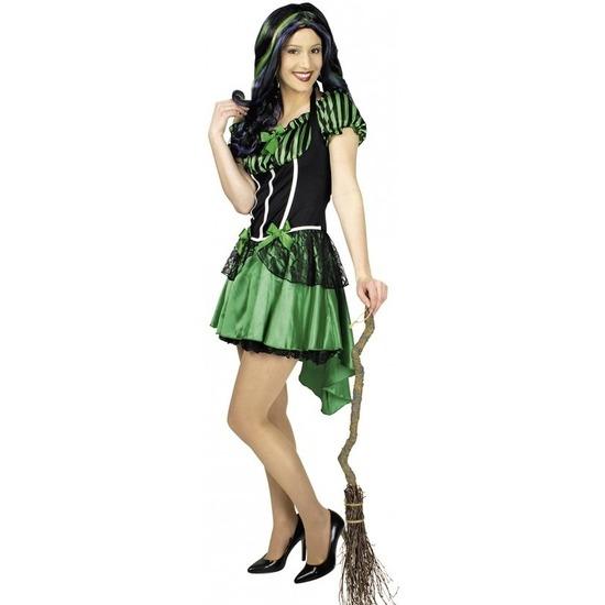 Heksen kostuum Alexia groen voor dames 36/38 Multi