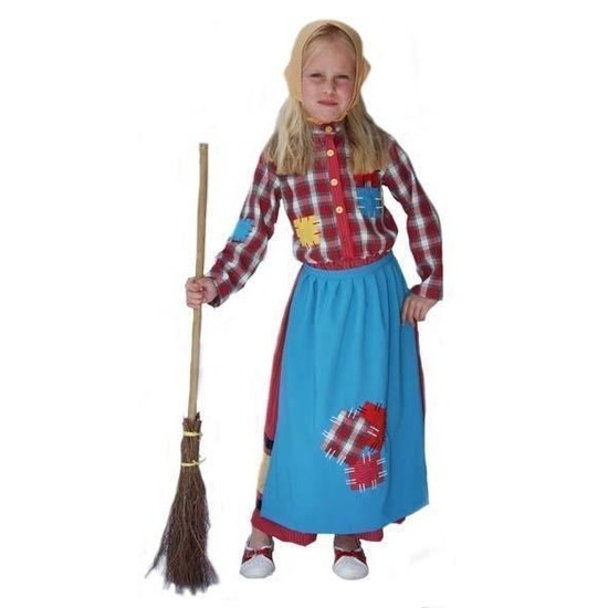 Heksen verkleedkleding voor meiden 140 Multi
