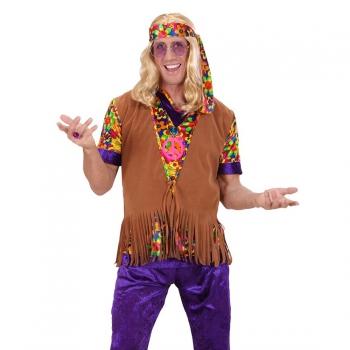 Heren hippie vest met franje One size Multi