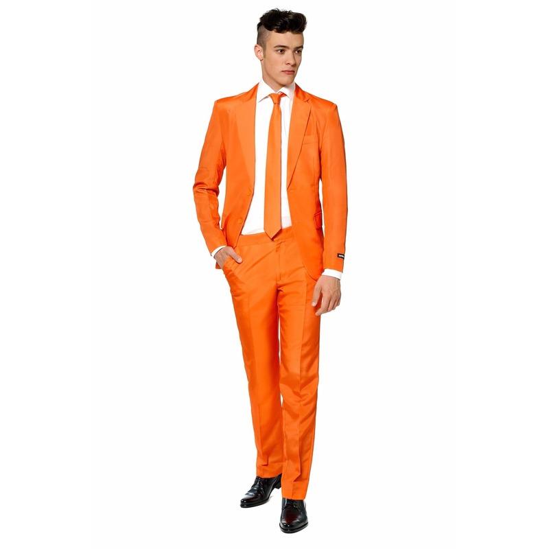 Heren kostuum oranje met stropdas voordelig S (44-46) Oranje