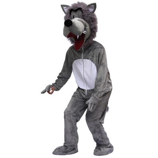 Heren kostuum wolf L Grijs