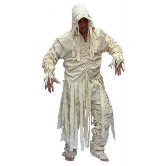 Heren mummie pak 52 (M) Wit