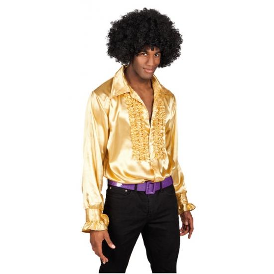 Heren rouche overhemd goud XL Multi