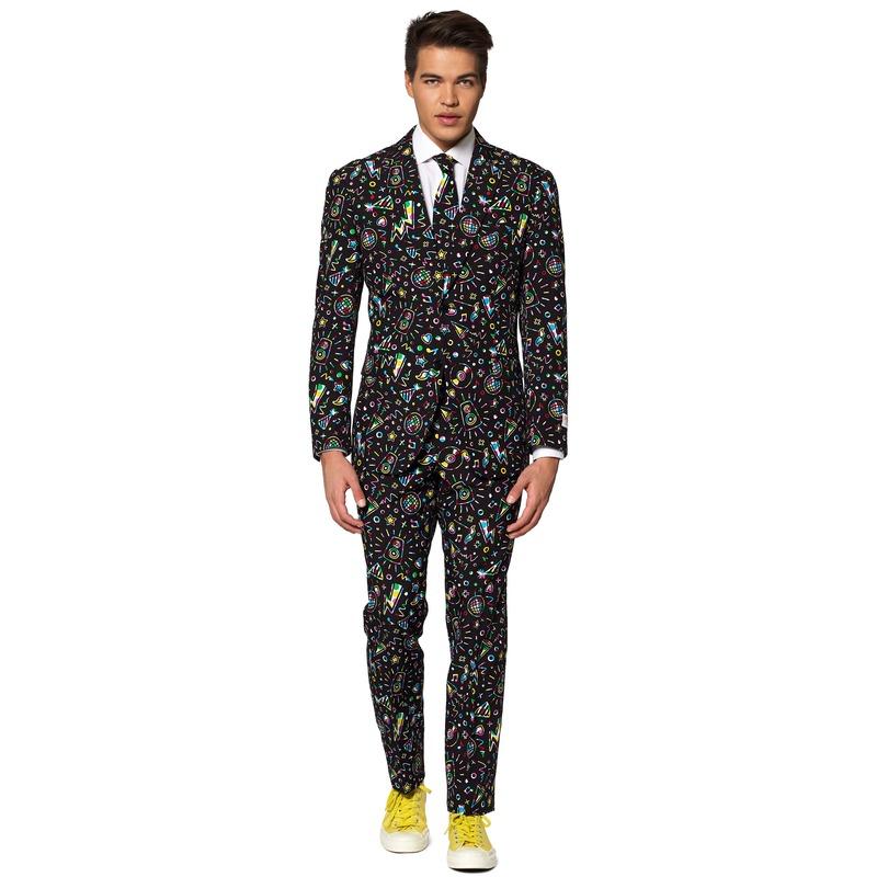 Heren verkleedkostuum Disco Dude business suit 52 (XL) Multi