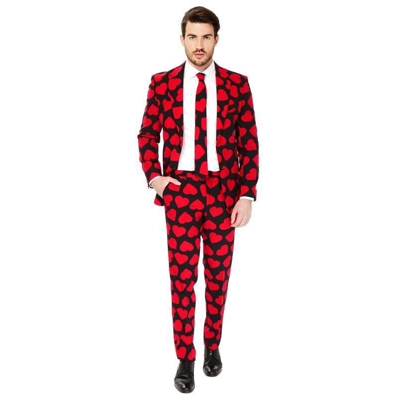Heren verkleedkostuum King Of Hearts business suit 50 (L) Multi