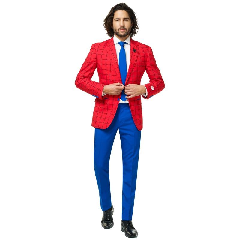 Heren verkleedkostuum Marvel Spiderman business suit 48 (M) Multi