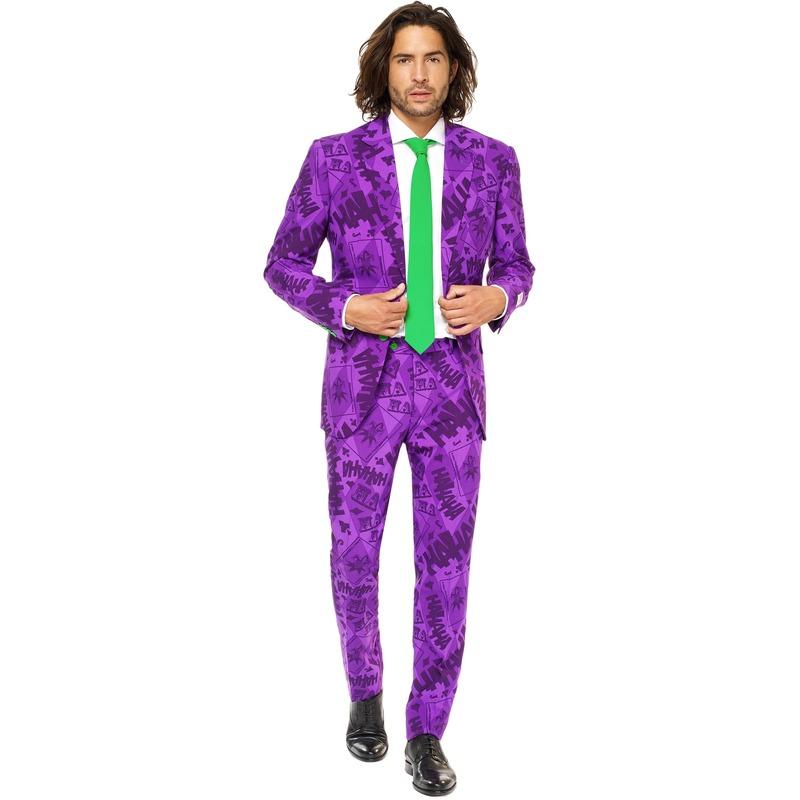 Heren verkleedkostuum The Joker Batman business suit 48 (M) Paars
