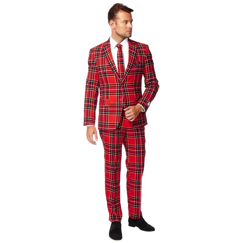 Heren verkleedkostuum The Lumberjack business suit 46 (S) Rood