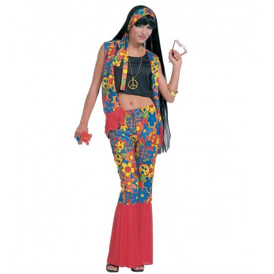 Hippie flower power kleding vrouwen 38 (M) Multi