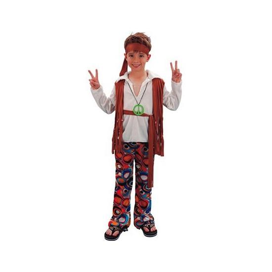 Hippie verkleedoutfit jongens 120-130 (7-9 jaar) Multi