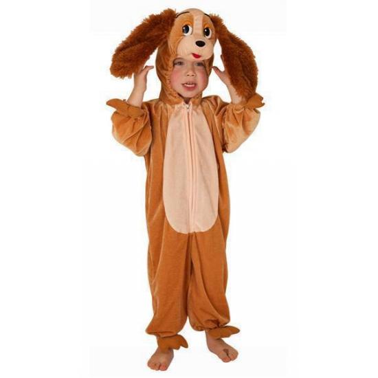 Honden kostuum voor kinderen 104 Bruin