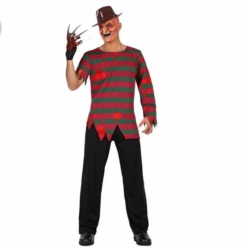 Horror moordenaar Freddy pak voor mannen 52 (L) Multi