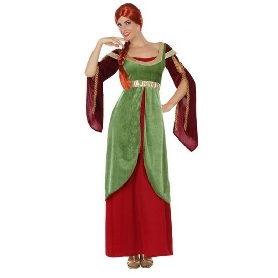 Jonkvrouw/prinses kostuum/set voor dames M/L (38-40) Multi