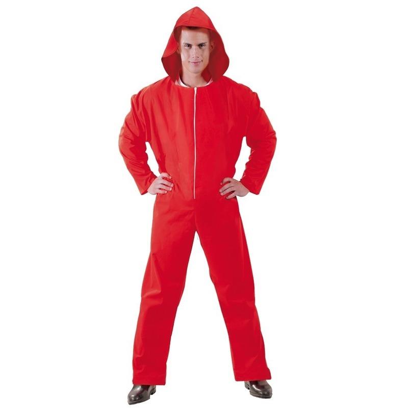 Jumpsuit Papel rood voor heren M (48-50) Rood