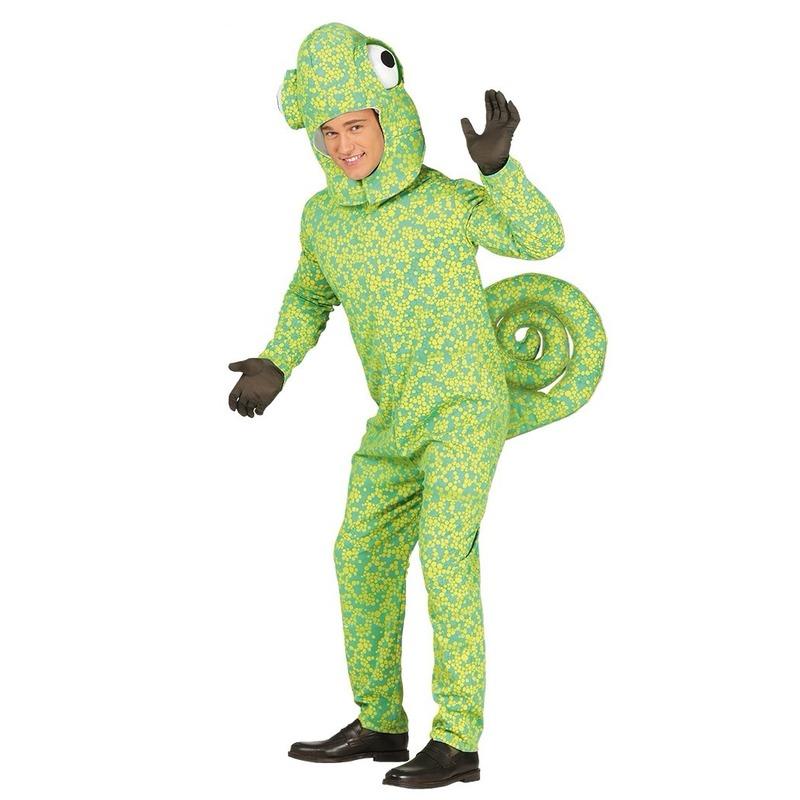 Kameleon verkleedkleding voor volwassenen M (48-50) Groen