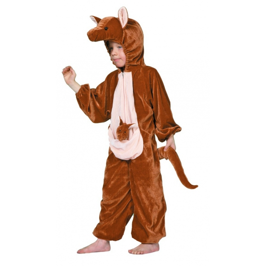Kangoeroe kostuums voor kinderen 152 Bruin