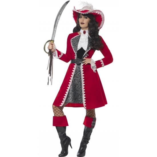 Kapiteins kostuum voor dames 40-42 (M) Multi