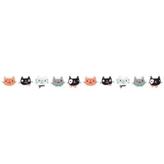 Katten/poezen feest slinger 170 cm -