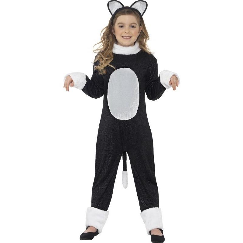 Katten/poezen verkleedkleding voor kinderen 145-158 (10-12 jaar) Zwart